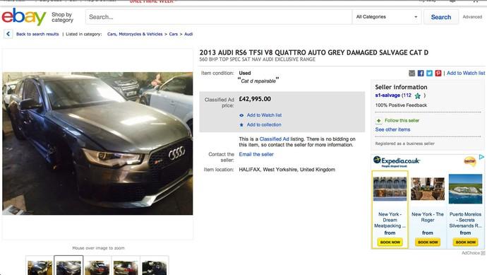 Beckham decide vender carro depois de acidente com o filho (Foto: Reprodução)