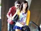 Fiuk e Sophia Abrahão namoram em aeroporto