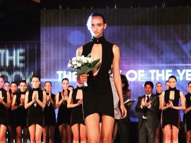 Angélica ficou em 3° lugar em concurso na Itália (Foto: Arquivo Pessoal)