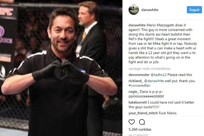 Dana White Instagram Yamasaki UFC Oklahoma (Foto: Reprodução Instagram)