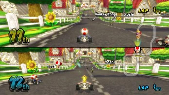 Mario Kart Wii foi o primeiro da série a ter suporte a widescreen (Foto: Reprodução/GameFaqs)