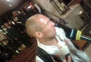 Robben Holanda hotel Rio de Janeiro (Foto: Mauricio Motta)