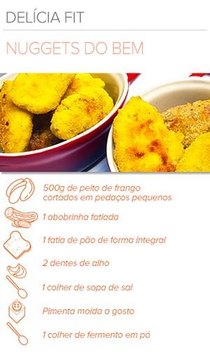 EuAtleta Arte Info receita Nuggets (Foto: Eu Atleta | Arte | foto: Renata Domingues)