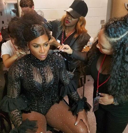 Serena Williams no show da Beyoncé (Foto: Reprodução/Instagram)