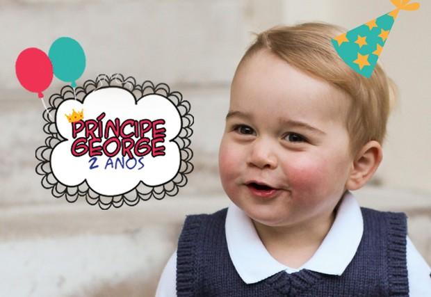 Arte: Baby George faz 2 anos (Foto: Ego)