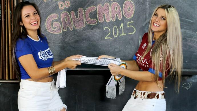 Daniela Costa e Débora Pagnoncelli concorrem à final na grande decisão do Musa do Gauchão (Foto: Diego Guichard)