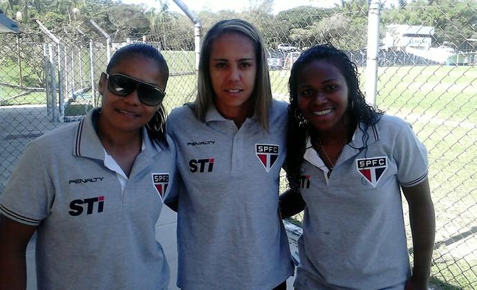 Jogadores Guiné Equatorial São Paulo futebol feminino (Foto: Felipe Kyoshy)