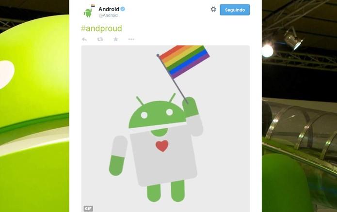 Participação do Android (Foto: Reprodução/Barbara Mannara)