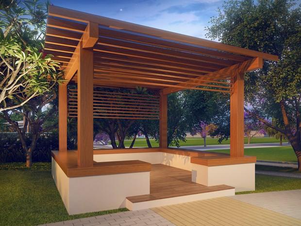 Foto 13 Residencial Solares perspectiva ilustrada do espaco zen (Foto: Divulgação)