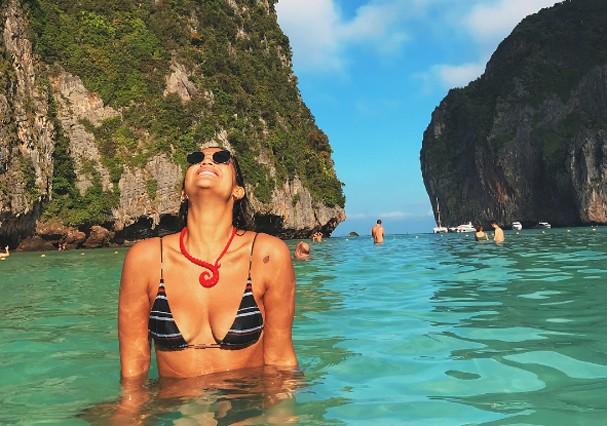 Giulia Costa em Koh Phi Phi  (Foto: Reprodução)