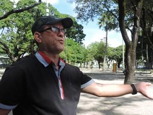 Benilson Grilo, presidente do sindicato dos motoristas  (Foto: Katherine Coutinho/G1)
