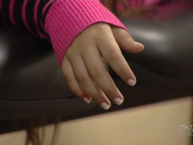Criança de 11 anos vítima de estupro foi resgatada após enviar mensagem ao pai, em Goiânia, Goiás (Foto: Reprodução/TV Anhanguera)