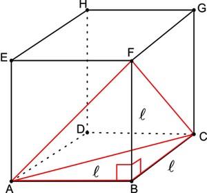 Esquema do tetraedro (Foto: Colégio Qi)
