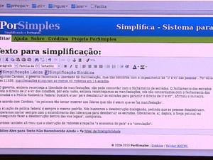 Programa desenvolvido na USP de São Carlos simplifica textos (Foto: Reginaldo dos Santos/EPTV)