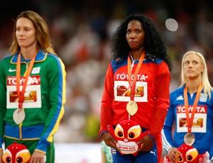 Fabiana Murer premiação salto com vara mundial (Foto: Getty Images)