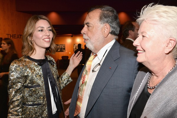 Sofia Coppola, Francis Ford Coppola e Eleanor Coppola (Foto: Getty Images)