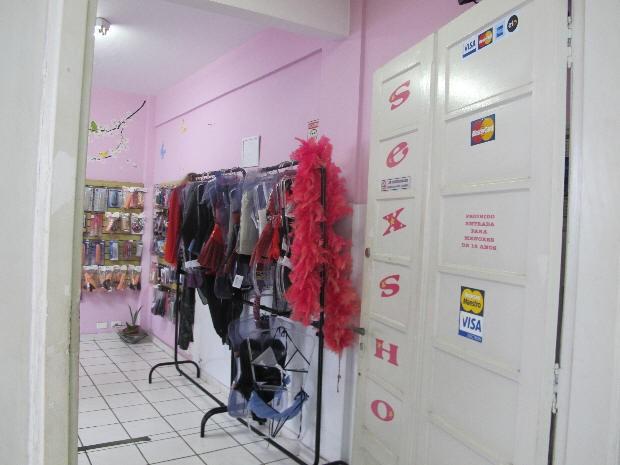 Roubo foi em sex shop de Praia Grande, SP (Foto: Anna Gabriela Ribeiro/G1)