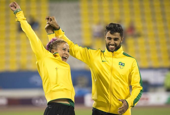 Após decepção por ter ficado com a prata, Terezinha recuperou a alegria no pódio do Mundial Paralpimpico de Atletismo em Doha, no Catar (Foto: Daniel Zappe/CPB)