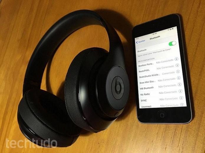 Beats Studio Wireless conecta muito bem ao iPhone e ao iPod (Foto: Thiago Barros/TechTudo)