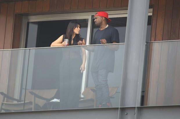 Kim Kardashian e Kanye West (Foto: Gabriel Reis/Agnews)