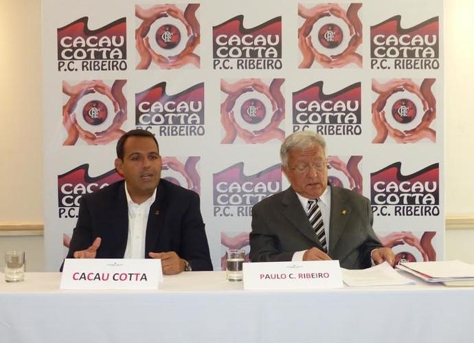 Cacau Cotta e Paulo Cézar Ribeiro Flamengo (Foto: Fred Gomes/ GloboEsporte.com)