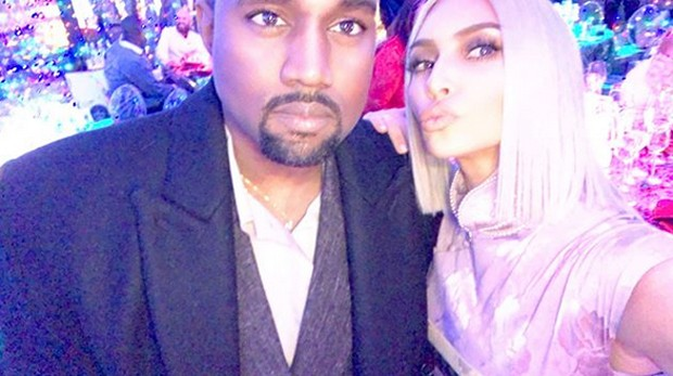 Kim Kardashian e Kanye West (Foto: Reprodução)