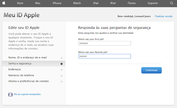 Insira o ID Apple e senha (Foto: Reprodução/Thiago Barros)