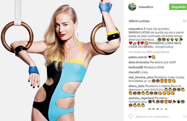 Post de Grazi Massafera parabenizando Angélica pelos 43 anos (Foto: Reprodução/Instagram)