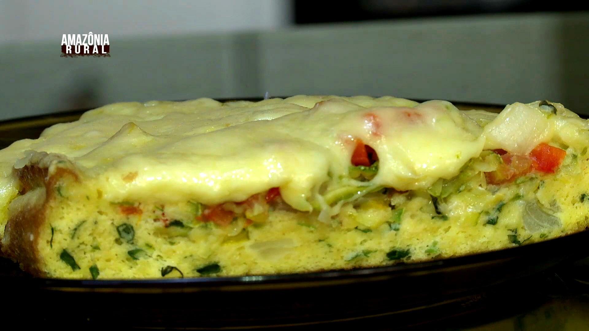 Aprenda a fazer o Omelete de Abobrinha, receita da dona Dirlene (Foto: Amazônia Rural)