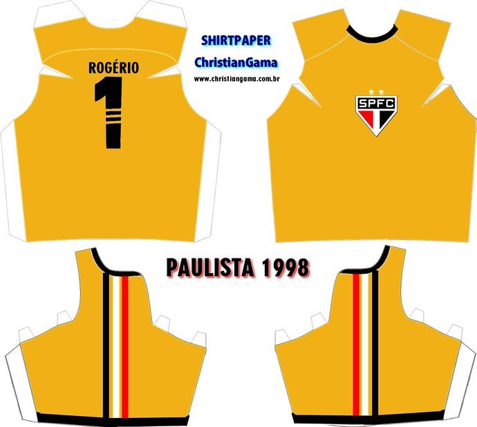 (NÃO USAR) Camisa Rogério Ceni Paulista 1998 (Foto: GloboEsporte.com)