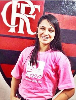 Danielle Karla Flamengo outubro rosa (Foto: Reprodução / Instagram)