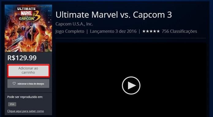 Ultimate Marvel Vs. Capcom 3 havia sido retirado do ar na geração passada (Foto: Reprodução/Felipe Demartini)