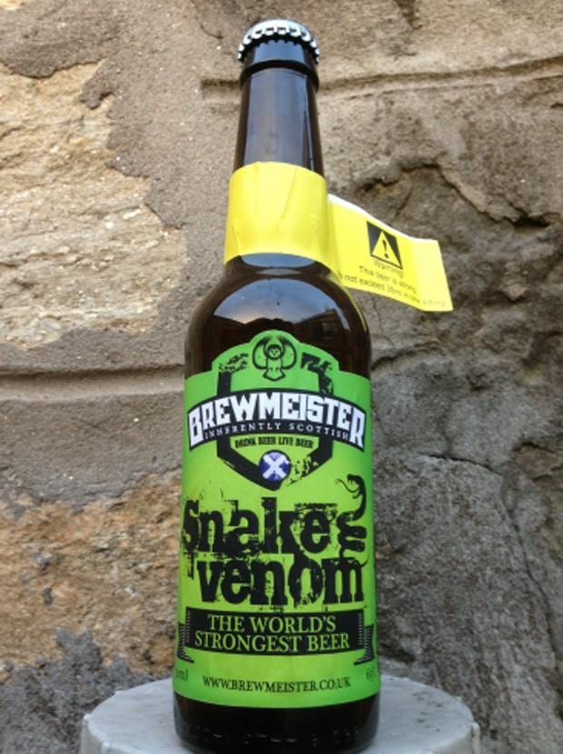 Batizada de 'Snake Venom', cerveja é considerada a mais forte do mundo (Foto: Reprodução/Brewmeister)