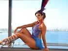 Denise Dias usa look R$5 mil para ensaio técnico do carnaval do Rio