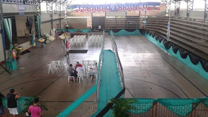 Local onde será feito o velório de Lucas Gomes, em Bragança-PA (Foto: Denilson Almeida)