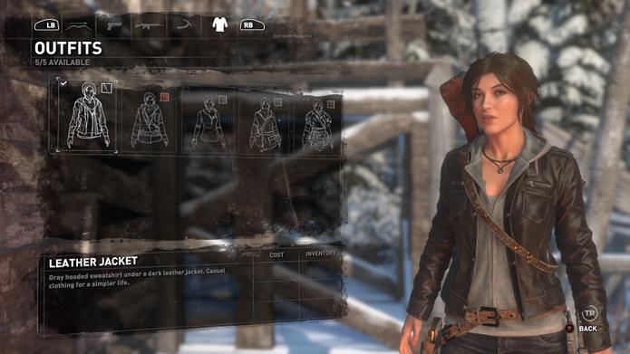 A jaqueta de couro presente nos trailers está no game (Foto: Reprodução/Twinfinite)