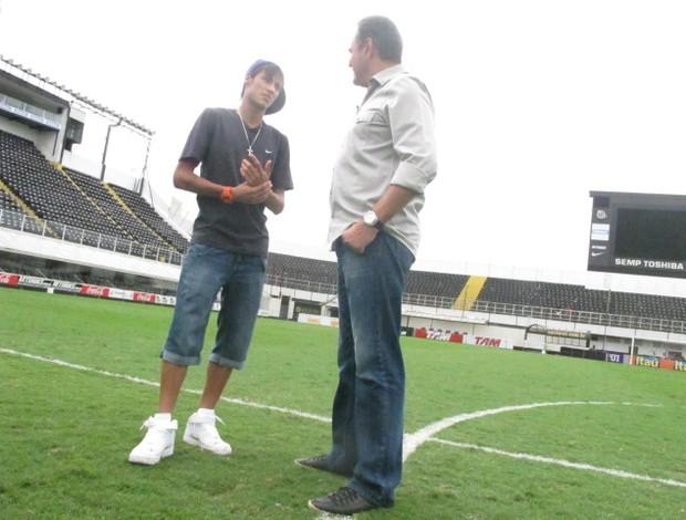 Neymar e Luiz Roberto 6 (Foto: Marcelo Hazan / TV Globo )