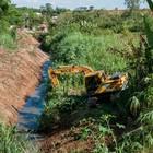 Prefeitura faz limpeza no Córrego Agudos (Divulgação)