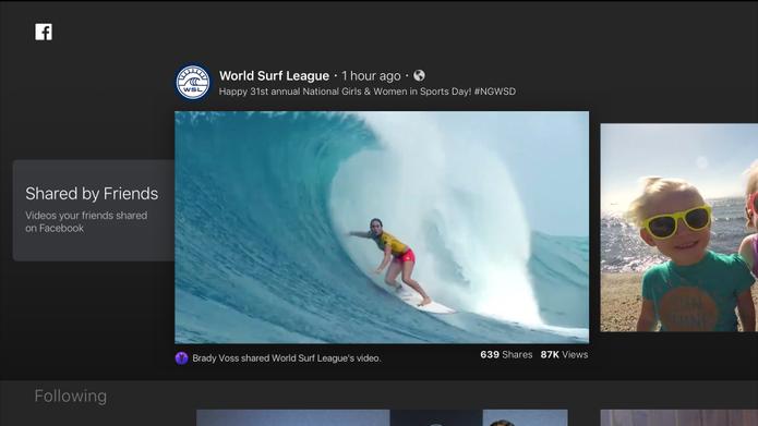 Facebook ganha app de vídeos para smart TVs; veja a interface (Foto: Divulgação/Facebook)