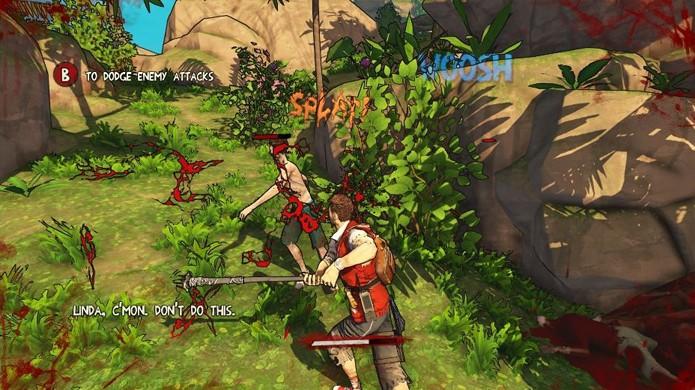 O combate de Escape Dead Island é extremamente ineficiente (Foto: Gamedoser)