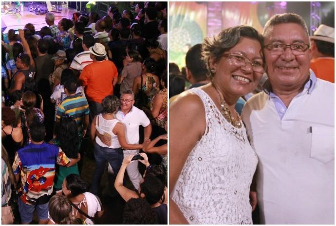 Casal caiu na dança durante o show (Foto: Katiúscia Monteiro/ Rede Amazônica)