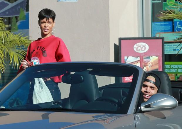 Rihanna e Chris Brown (Foto: Agência Grosby Group)