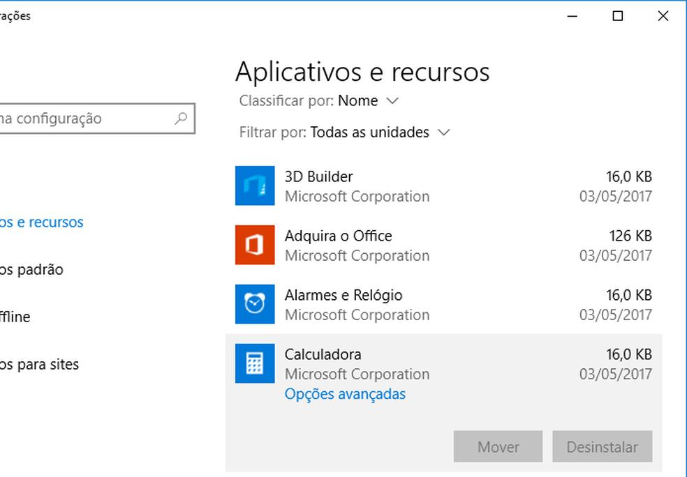 Veja como fazer para desinstalar programas quando a opção está desativada no Windows 10 (Foto: Edivaldo Brito/TechTudo)