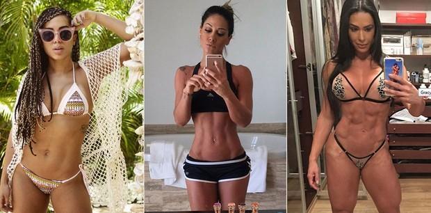 Anitta, Mayra Cardi e Grcyanne Barbosa (Foto: Instagram/ Reprodução)