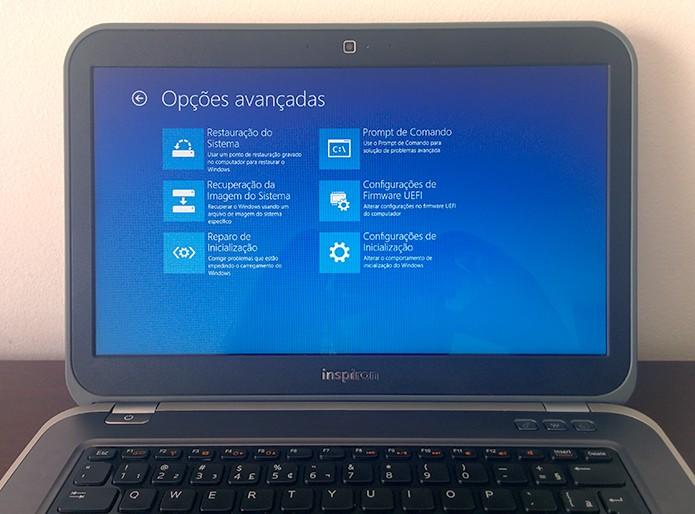 Veja como acessar o menu de inicialização avançada do Windows 8 de três maneiras simples (Foto: Reprodução/Paulo Alves)