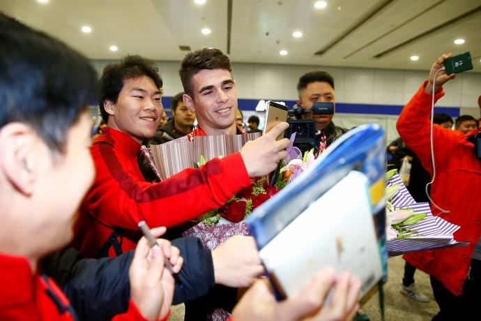 Recepção de Oscar na China (Foto: Reuters)