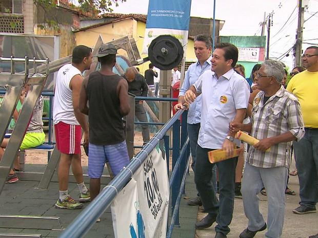 Geraldo Julio (PSB), candidato à reeleição à Prefeitura do Recife (Foto: Reprodução/TV Globo)