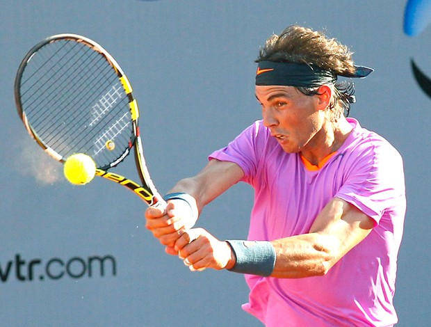 Nadal no Aberto do Chile de tênis contra Federico Delbonis (Foto: Reuters)