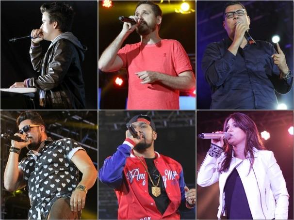13 mil pessoas cantaram sucessos de gandes nomes da música gospel (Foto: TV Anhanguera / Kazuo)