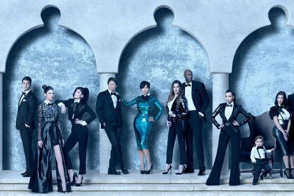 Uma foto de um dos cartões de Natal do clã Kardashian-Jenner (Foto: Divulgação)